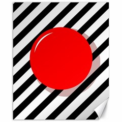 Red Ball Canvas 16  X 20   by Valentinaart