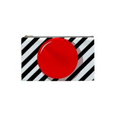 Red Ball Cosmetic Bag (small)  by Valentinaart