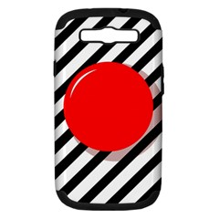 Red Ball Samsung Galaxy S Iii Hardshell Case (pc+silicone) by Valentinaart