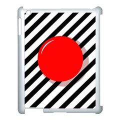 Red Ball Apple Ipad 3/4 Case (white) by Valentinaart