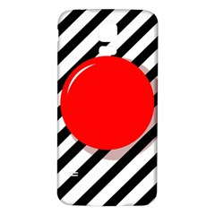 Red Ball Samsung Galaxy S5 Back Case (white) by Valentinaart