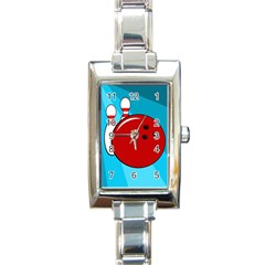 Bowling  Rectangle Italian Charm Watch by Valentinaart