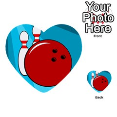 Bowling  Multi Purpose Cards (heart)  by Valentinaart