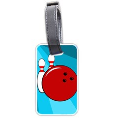 Bowling  Luggage Tags (one Side)  by Valentinaart