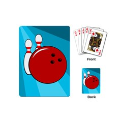 Bowling  Playing Cards (mini)  by Valentinaart