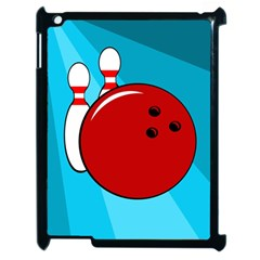 Bowling  Apple Ipad 2 Case (black) by Valentinaart