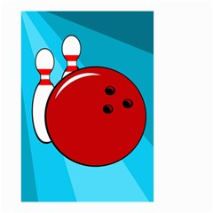 Bowling  Small Garden Flag (two Sides) by Valentinaart