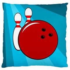 Bowling  Large Flano Cushion Case (two Sides) by Valentinaart