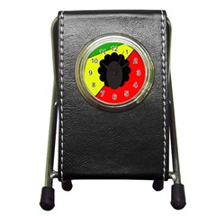 Jamaica Pen Holder Desk Clocks by Valentinaart
