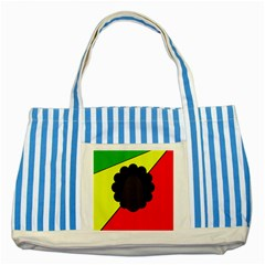 Jamaica Striped Blue Tote Bag by Valentinaart