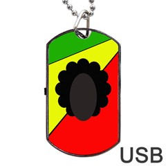 Jamaica Dog Tag Usb Flash (two Sides)  by Valentinaart