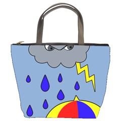 Rainy Day Bucket Bags by Valentinaart