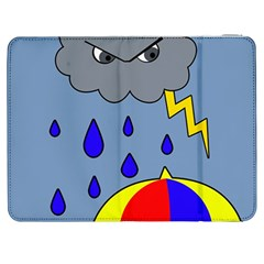Rainy Day Samsung Galaxy Tab 7  P1000 Flip Case by Valentinaart