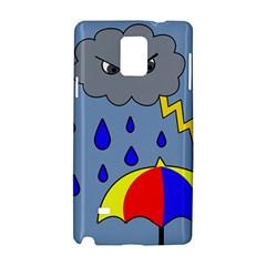 Rainy Day Samsung Galaxy Note 4 Hardshell Case by Valentinaart