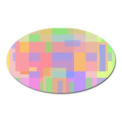 Pastel Decorative Design Oval Magnet by Valentinaart