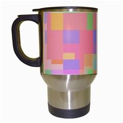 Pastel Decorative Design Travel Mugs (white) by Valentinaart