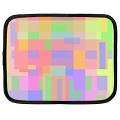 Pastel Decorative Design Netbook Case (large) by Valentinaart