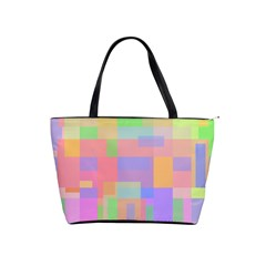 Pastel Decorative Design Shoulder Handbags by Valentinaart