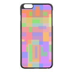 Pastel Decorative Design Apple Iphone 6 Plus/6s Plus Black Enamel Case by Valentinaart