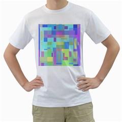 Pastel Geometrical Desing Men s T Shirt (white) (two Sided) by Valentinaart