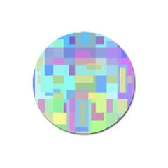Pastel Geometrical Desing Magnet 3  (round) by Valentinaart