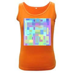 Pastel Geometrical Desing Women s Dark Tank Top by Valentinaart