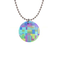 Pastel Geometrical Desing Button Necklaces by Valentinaart