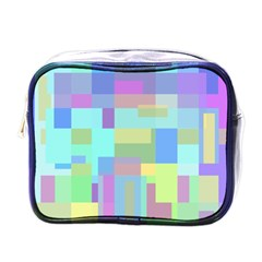 Pastel Geometrical Desing Mini Toiletries Bags by Valentinaart