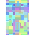 Pastel geometrical desing 5.5  x 8.5  Notebooks Back Cover