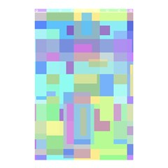 Pastel Geometrical Desing Shower Curtain 48  X 72  (small)  by Valentinaart