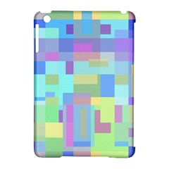 Pastel geometrical desing Apple iPad Mini Hardshell Case (Compatible with Smart Cover) by Valentinaart