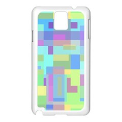Pastel Geometrical Desing Samsung Galaxy Note 3 N9005 Case (white) by Valentinaart