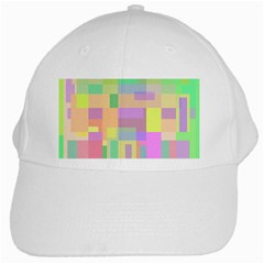 Pastel Colorful Design White Cap by Valentinaart