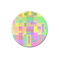 Pastel Colorful Design Magnet 3  (round) by Valentinaart