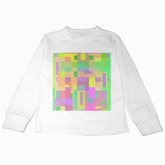 Pastel Colorful Design Kids Long Sleeve T Shirts by Valentinaart