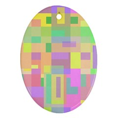 Pastel Colorful Design Oval Ornament (two Sides) by Valentinaart