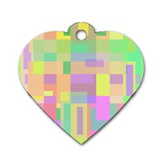 Pastel Colorful Design Dog Tag Heart (two Sides) by Valentinaart