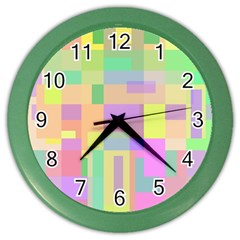 Pastel colorful design Color Wall Clocks by Valentinaart