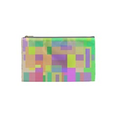 Pastel Colorful Design Cosmetic Bag (small)  by Valentinaart