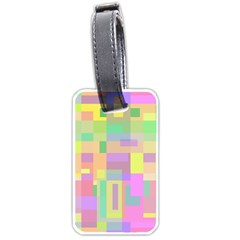Pastel Colorful Design Luggage Tags (one Side)  by Valentinaart