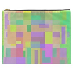 Pastel Colorful Design Cosmetic Bag (xxxl)  by Valentinaart