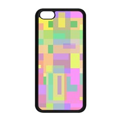 Pastel Colorful Design Apple Iphone 5c Seamless Case (black) by Valentinaart