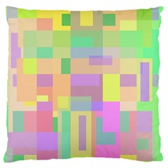 Pastel Colorful Design Large Flano Cushion Case (one Side) by Valentinaart