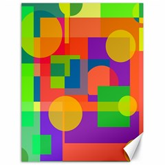 Colorful Geometrical Design Canvas 18  X 24   by Valentinaart