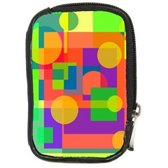 Colorful Geometrical Design Compact Camera Cases by Valentinaart