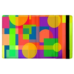 Colorful geometrical design Apple iPad 3/4 Flip Case by Valentinaart