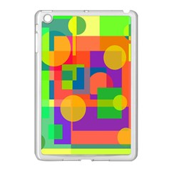 Colorful Geometrical Design Apple Ipad Mini Case (white) by Valentinaart