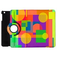 Colorful Geometrical Design Apple Ipad Mini Flip 360 Case by Valentinaart