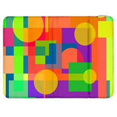 Colorful Geometrical Design Samsung Galaxy Tab 7  P1000 Flip Case by Valentinaart