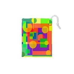 Colorful Geometrical Design Drawstring Pouches (xs)  by Valentinaart